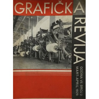 GRAFIČKA REVIJA - MART,APRIL 1929.