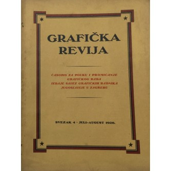 GRAFIČKA REVIJA - JULI, AUGUST 1926.