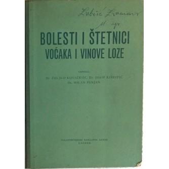 Dr. ŽELJKO KOVAČEVIĆ, Dr. JOSIP KIŠPATIĆ, Dr. MILAN PANJAN : BOLESTI I ŠTETNICI VOĆAKA I VINOVE LOZE