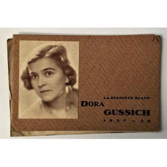 LA PIANISTE SLAVE DORA GUSSICH 1937 - 38
