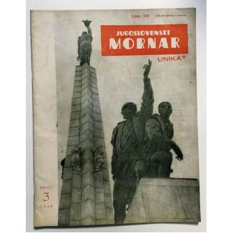 JUGOSLAVENSKI MORNAR - ČASOPIS, BROJ 3  GOD. IV 1948.
