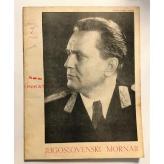 JUGOSLAVENSKI MORNAR - ČASOPIS, BROJ 7  GOD. IV 1948.