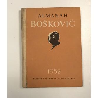 BOŠKOVIĆ, ALMANAH  HRVATSKOG PRIRODOSLOVNOG DRUŠTVA, 1952.