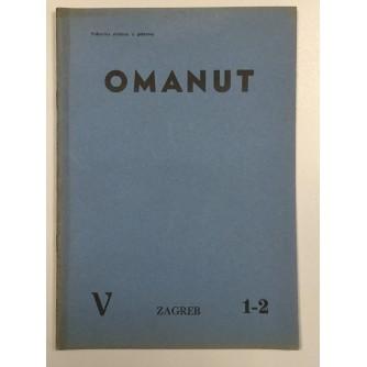 OMANUT, GODINA V. BROJ 1-2 , 1941.,  ŽIDOVSKI MJESEČNIK