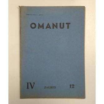 OMANUT, GODINA IV. BROJ 12 , 1940.,  ŽIDOVSKI MJESEČNIK