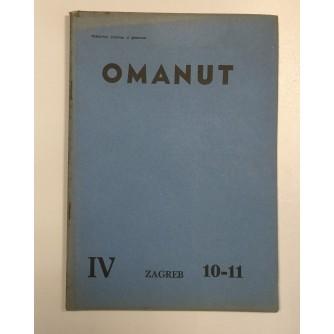OMANUT, GODINA IV. BROJ 10-11 , 1940.,  ŽIDOVSKI MJESEČNIK