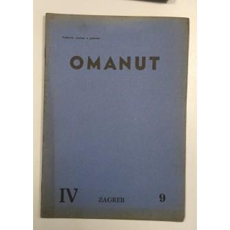 OMANUT, GODINA IV. BROJ 9 , 1940.,  ŽIDOVSKI MJESEČNIK