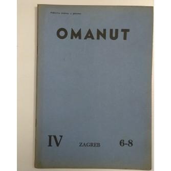 OMANUT, GODINA IV. BROJ 6-7-8 , 1940.,  ŽIDOVSKI MJESEČNIK