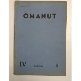 OMANUT, GODINA IV. BROJ 5 , 1940.,  ŽIDOVSKI MJESEČNIK