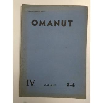 OMANUT, GODINA IV. BROJ 3-4 , 1940.,  ŽIDOVSKI MJESEČNIK