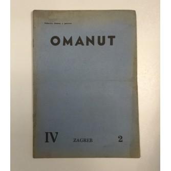 OMANUT, GODINA IV. BROJ 1-2 , 1940.,  ŽIDOVSKI MJESEČNIK