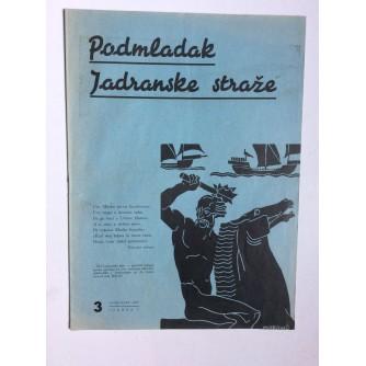 PODMLADAK JADRANSKE STRAŽE, 1937. BROJ 3, ČASOPIS