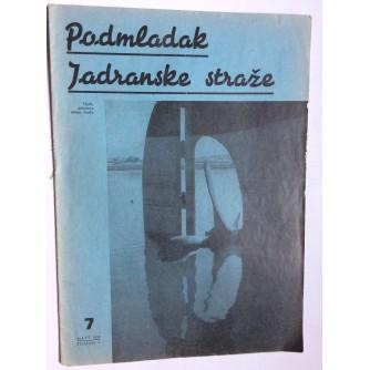 PODMLADAK JADRANSKE STRAŽE, 1938. BROJ 7, ČASOPIS