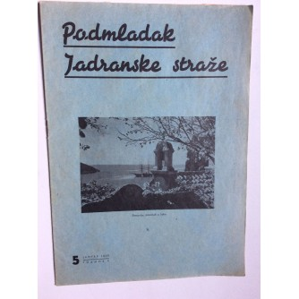 PODMLADAK JADRANSKE STRAŽE, 1938. BROJ 5, ČASOPIS