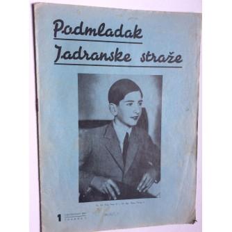 PODMLADAK JADRANSKE STRAŽE, 1937. BROJ 1, ČASOPIS