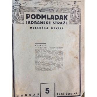 PODMLADAK JADRANSKE STRAŽE, 1935. BROJ 5, ČASOPIS