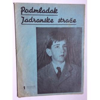 PODMLADAK JADRANSKE STRAŽE, 1936. BROJ 1, ČASOPIS