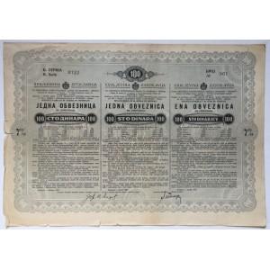 STARA DIONICA KRALJEVINA JUGOSLAVIJA 100 STO  DINARA BEOGRAD 1937
