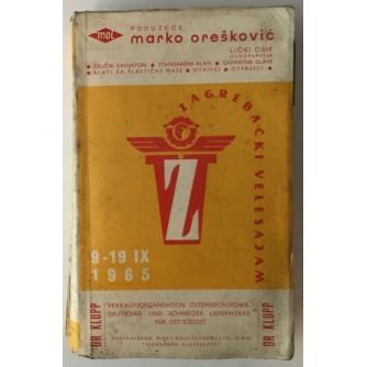 ZAGREBAČKI VELESAJAM KATALOG 09-19.09.1965.