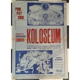 NOVOSADSKI CIRKUS KOLOSEUM - PLAKAT