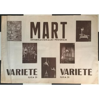 VARIETE MART INTERNACIONALNI PROGRAM - PLAKAT