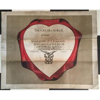 HRVATSKI SOKOL - PLAKAT