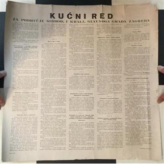 KUĆNI RED ZAGREB - PLAKAT