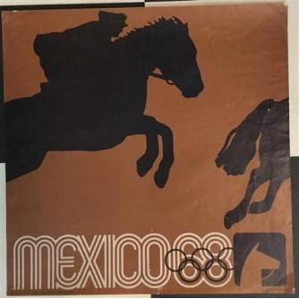 OLIMPIJSKE IGRE MEXICO KONJIČKE UTRKE - PLAKAT