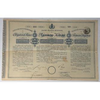 STARA DIONICA MAGYAR JELZÁLOG-HITELBANK PRÄMIEN OBLIGATION 100 HUNDERT GULDEN BUDAPEST 1884 HUNGARY