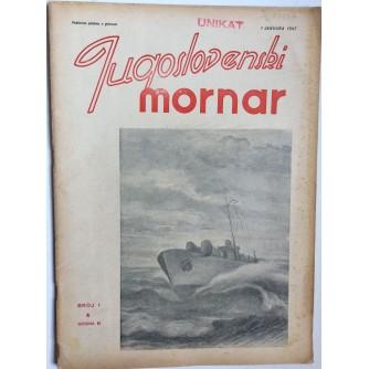 JUGOSLOVENSKI MORNAR, ČASOPIS, BROJ 1 - 1947.