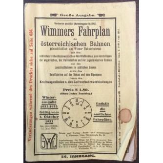 WIMMERS FAHRPLAN DER ÖSTERREICHISCHEN BAHNEN