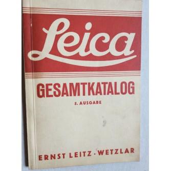 ERNST LEITZ WETZLAR, LEICA, GESAMTKATALOG, 1938.