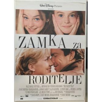 FILMSKI PLAKAT : ZAMKA ZA RODITELJE ( THE PARENT TRAP )