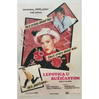FILMSKI PLAKAT : LEPOTICA U RUŽIČASTOM ( PRETTY IN PINK )