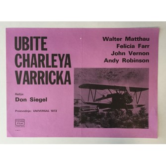 FILMSKI PLAKAT : UBITE CHARLEYA VARRICKA