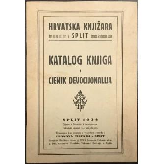HRVATSKA KNJIŽARA SPLIT : KATALOG KNJIGA I CJENIK DEVOCIJONALIJA