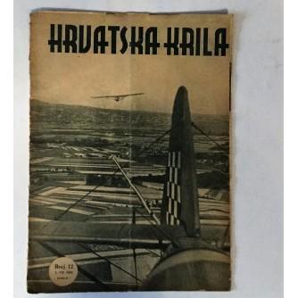 HRVATSKA KRILA : ČASOPIS 1943. BROJ 12