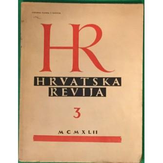 HRVATSKA REVIJA BROJ 3   1942.