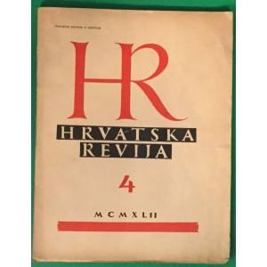 HRVATSKA REVIJA BROJ 4   1942.