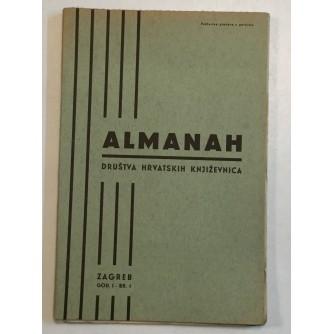 ALMANAH DRUŠTVA HRVATSKIH KNJIŽEVNIKA : 1938. GODINA 1 BROJ 1