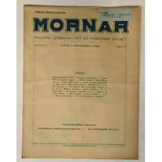 MORNAR, ČASOPIS BROJ 9, GODINA 1932.