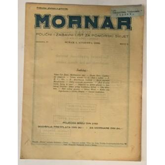 MORNAR, ČASOPIS BROJ 8, GODINA 1932.