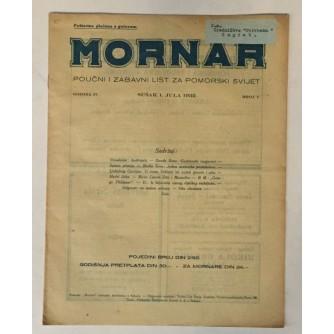 MORNAR, ČASOPIS BROJ 7, GODINA 1932.