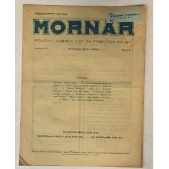 MORNAR, ČASOPIS BROJ 6, GODINA 1932.