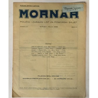 MORNAR, ČASOPIS BROJ 5, GODINA 1932.