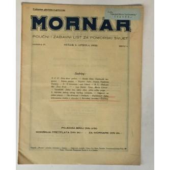 MORNAR, ČASOPIS BROJ 4, GODINA 1932.