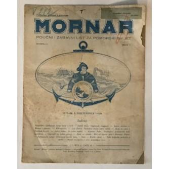 MORNAR, ČASOPIS BROJ 7, GODINA 1929.