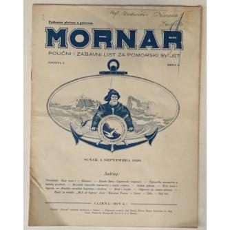 MORNAR, ČASOPIS BROJ 4, GODINA 1929.