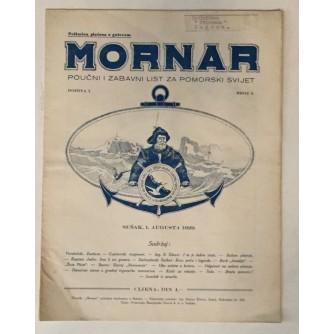 MORNAR, ČASOPIS BROJ 3, GODINA 1929.