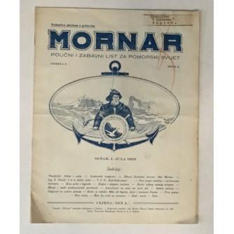 MORNAR, ČASOPIS BROJ 2, GODINA 1929.